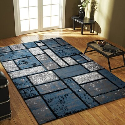 Giuliana Dusty Brick Light Blue/Gray Area Rug Rug Size: 4 x 5