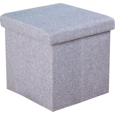 Balling Folding Storage Ottoman Upholstery: Gray