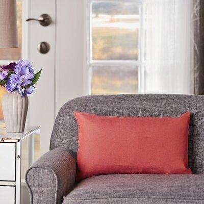 Maynor Rectangular Indoor/Outdoor Lumbar Pillow Color: Coral