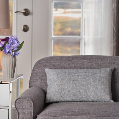 Maynor Rectangular Indoor/Outdoor Lumbar Pillow Color: Heather Gray