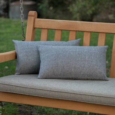 Mayne Water Resistant Rectangular Outdoor Lumbar Pillow Color: Heather Gray