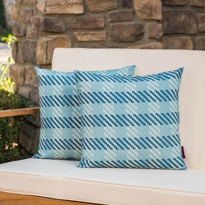 Maytag Plaid Square Outdoor Throw Pillow