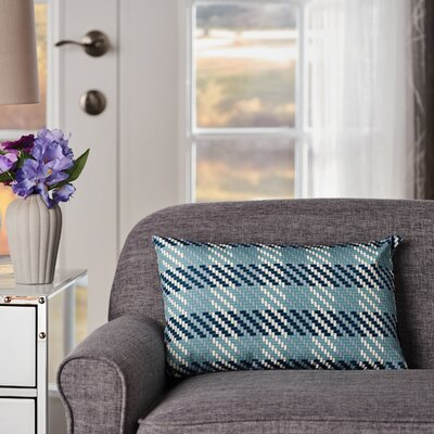 Maysonet Plaid Rectangular Indoor/Outdoor Throw Pillow
