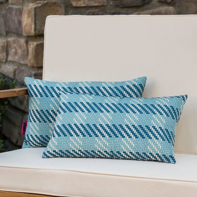 Gipe Plaid Rectangular Outdoor Lumbar Pillow