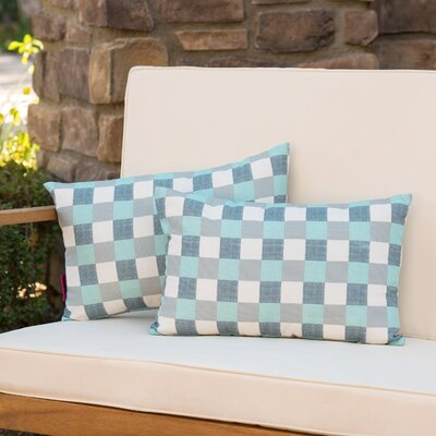 Mayville Plaid Rectangular Outdoor Lumbar Pillow