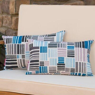 Mayton Geometric Rectangular Outdoor Lumbar Pillow