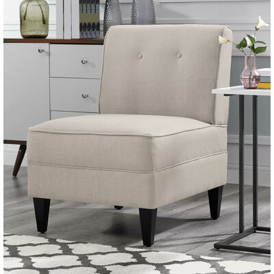 Gozzoli Tufted Slipper Chair Upholstery: Cream
