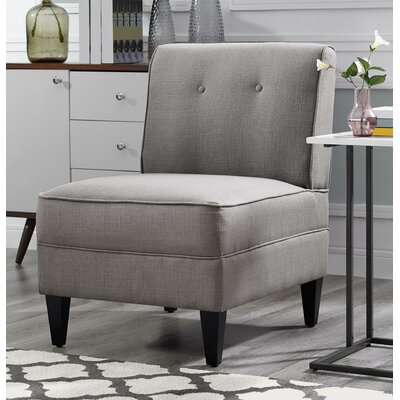 Gozzoli Tufted Slipper Chair Upholstery: Gray