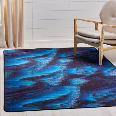Ellesmere Blue Area Rug Rug Size: Rectangle 51 x 76