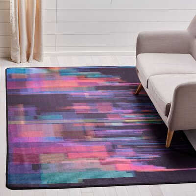 Ellesmere Rectangle Turquoise Area Rug Rug Size: Rectangle 51 x 76