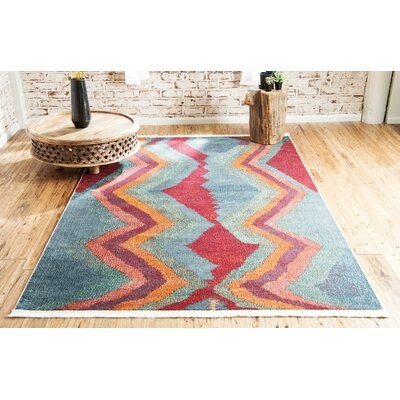 Backus Gray/Red Area Rug Rug Size: Rectangle 10 x 13
