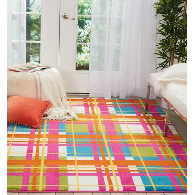 Quattrucci Red/Pink Area Rug Rug Size: Rectangle�53 x 73