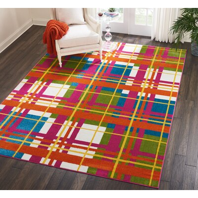 Quattrucci Red/Pink Area Rug Rug Size: Rectangle�710 x 10
