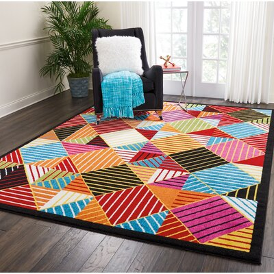 Quattrucci Blue/Orange Area Rug Rug Size: Rectangle�710 x 10