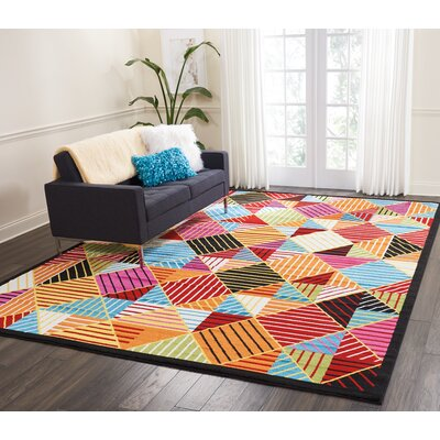 Quattrucci Blue/Orange Area Rug Rug Size: Rectangle�92 x 12