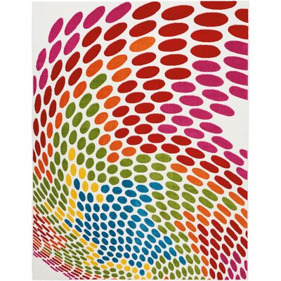 Quattrucci Red/Pink/Green Area Rug Rug Size: Rectangle�710 x 10