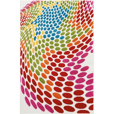 Quattrucci Red/Pink/Green Area Rug Rug Size: Rectangle�4 x 6