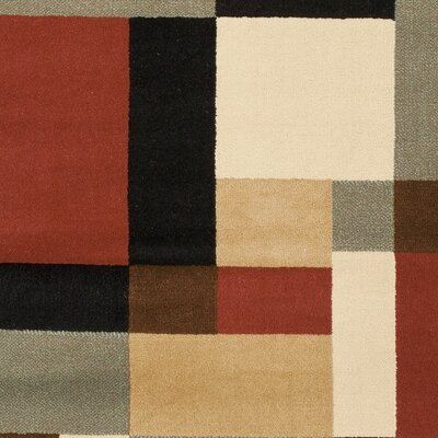 Charis Geometric Woven Area Rug Rug Size: Rectangle 27 x 5