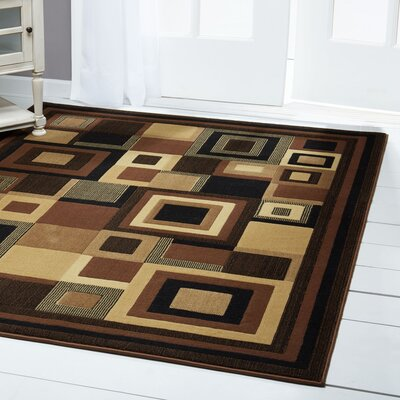 Brinegar Black & Brown Area Rug Rug Size: Rectangle 53 x 72