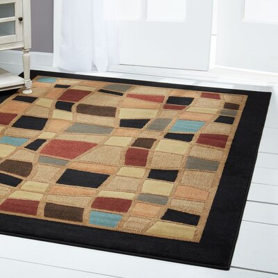 Brinegar Black Area Rug Rug Size: Rectangle 53 x 72