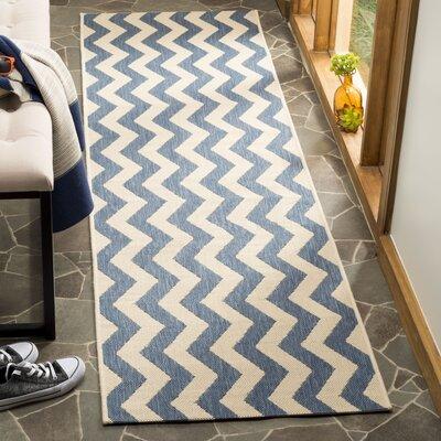 Mullen Blue/Beige Indoor/Outdoor Area Rug Rug Size: Runner 23 x 8