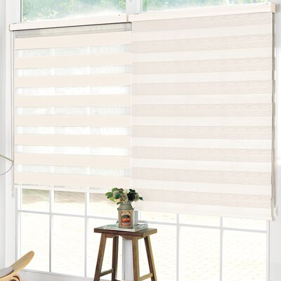 Pesce Day and Night Room Darkening Roller Shade Blind Size: 36W x 84L, Color: Ivory