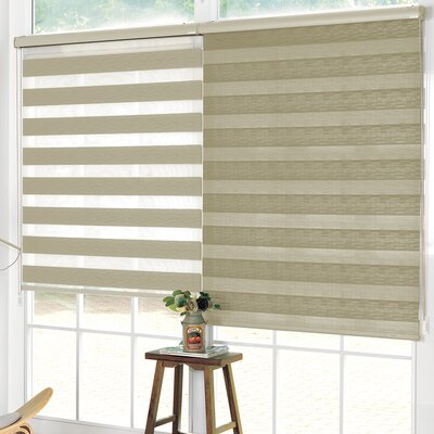Pesce Day and Night Room Darkening Roller Shade Blind Size: 27W x 84L, Color: Taupe