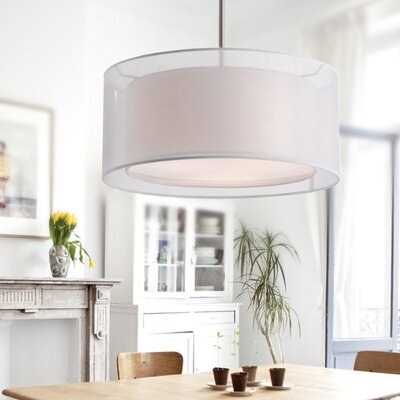 Lavoie 3-Light Drum Pendant