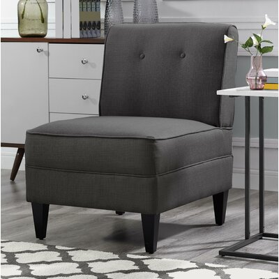 Gozzoli Tufted Slipper Chair Upholstery: Charcoal