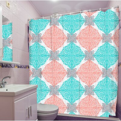 Ortez Medallion Print Shower Curtain