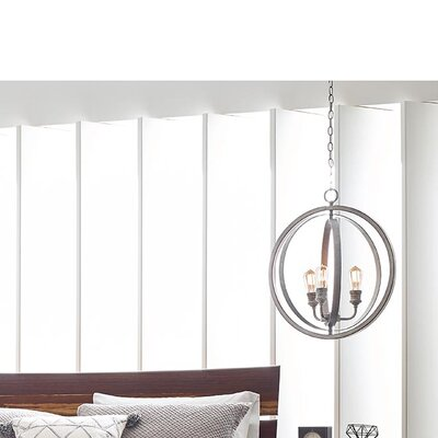 Mccurley 1-Light Globe Pendant Finish: Galvanized