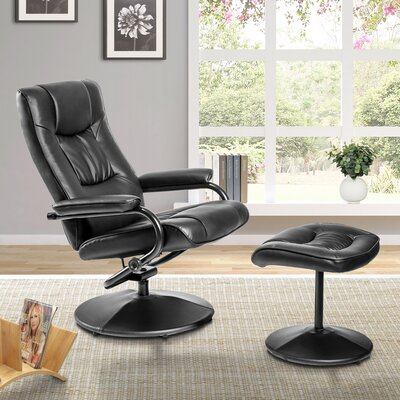 Mikula Manual Swivel Recliner with Ottoman