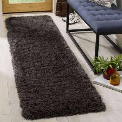 Stoffel Charcoal Area Rug Rug Size: Runner 2 x 8