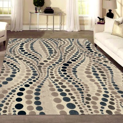 Fulop Modern Bone Area Rug Rug Size: Rectangle 710 x 106