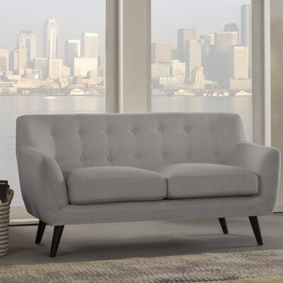 Paschal Loveseat Upholstery: Gray