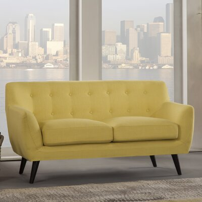 Paschal Loveseat Upholstery: Yellow