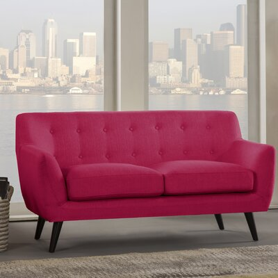 Paschal Loveseat Upholstery: Raspberry