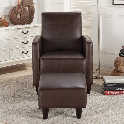 Christner Armchair and Ottoman Upholstery: Wenge