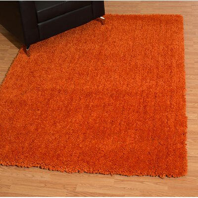 Mullenix Orange Area Rug Rug Size: Rectangle 53 x 72