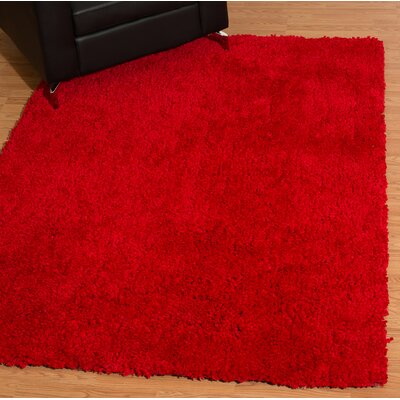 Mullenix Red Area Rug Rug Size: Rectangle 53 x 72
