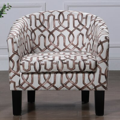 Ballew Barrel Chair Upholstery : Vintage Brown