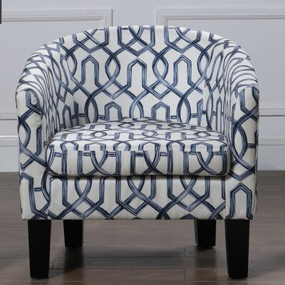 Ballew Barrel Chair Upholstery : Navy Blue