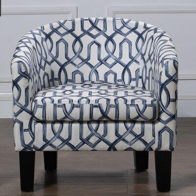 Ballew Barrel Chair Upholstery: Navy Blue