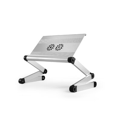 Avery 24 H x 18 Adjustable Laptop Stand Finish: Silver