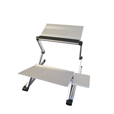 Avery 24 H x 18 W Standing Desk Conversion Unit Finish: Silver
