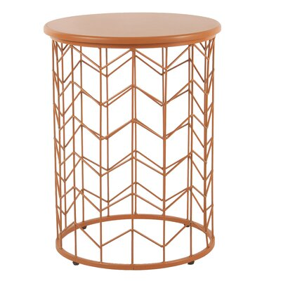 Corben Geometric End Table Color: Orange