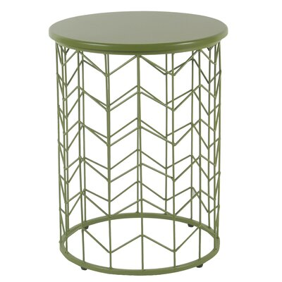 Corben Geometric End Table Color: Green