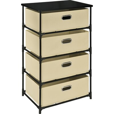 Bohnsack 4 Drawer Storage Unit End Table Color: Natural