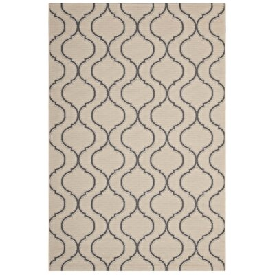 Pereyra Wave Trellis Beige/Gray Indoor/Outdoor Area Rug Rug Size: Rectangle 5 x 8