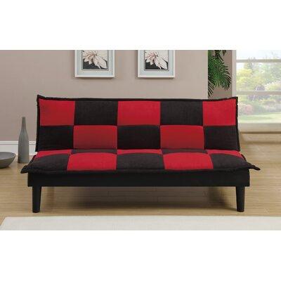 Sirna Adjustable Sofa Upholstery: Microfiber, Finish: Black/Red